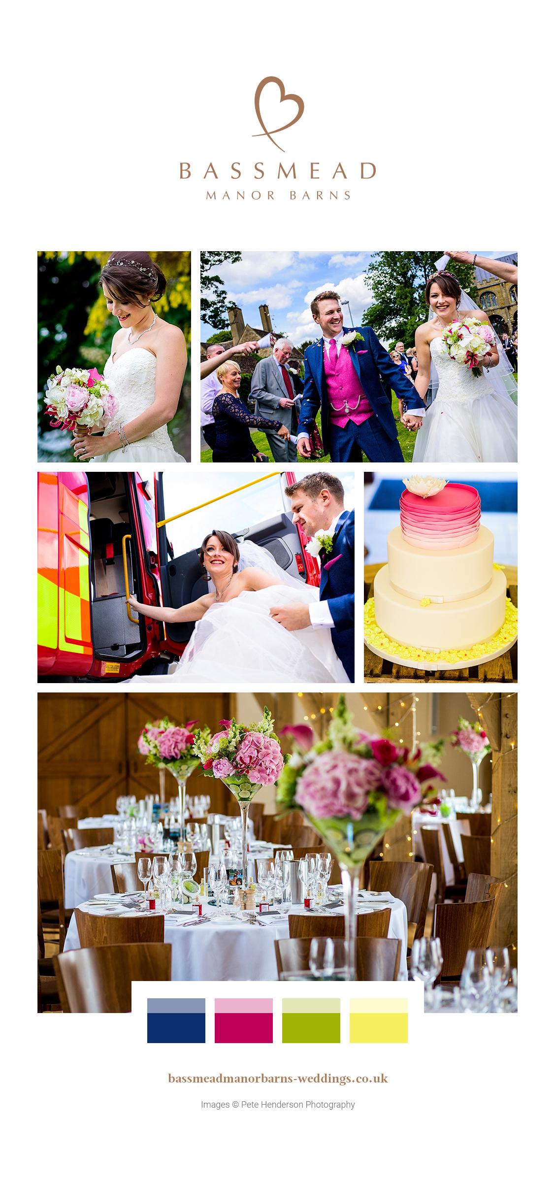Carly and Stuart's real life wedding at Bassmead Manor Barns