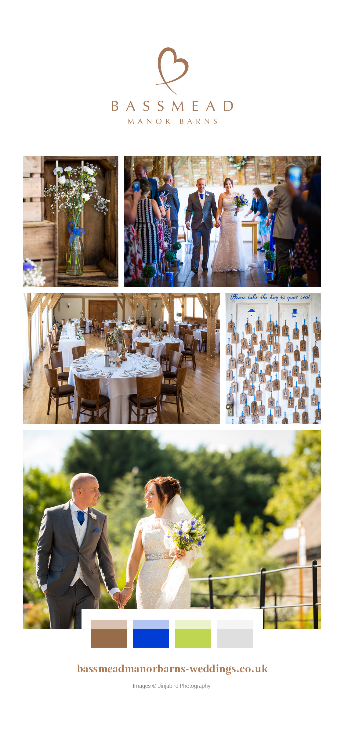 Lauren and Brad's real life wedding at Bassmead Manor Barns
