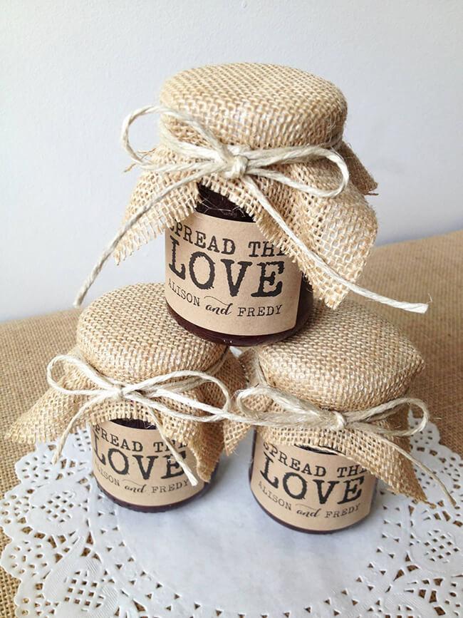 Make homemade chutneys as an alternative autumn wedding favour