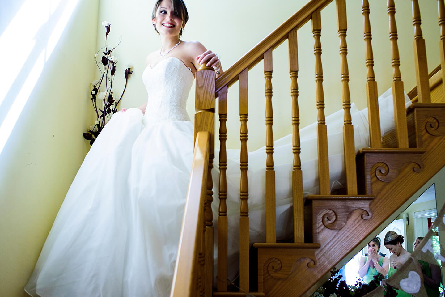 After finishing her bridal preparations in the Boudoir the bride makes her way to the wedding ceremony