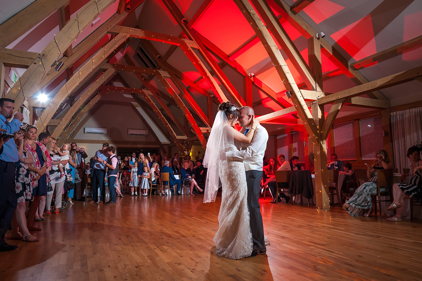 The happy husband and wife took to the dancefloor to enjoy their first dance in front of guests