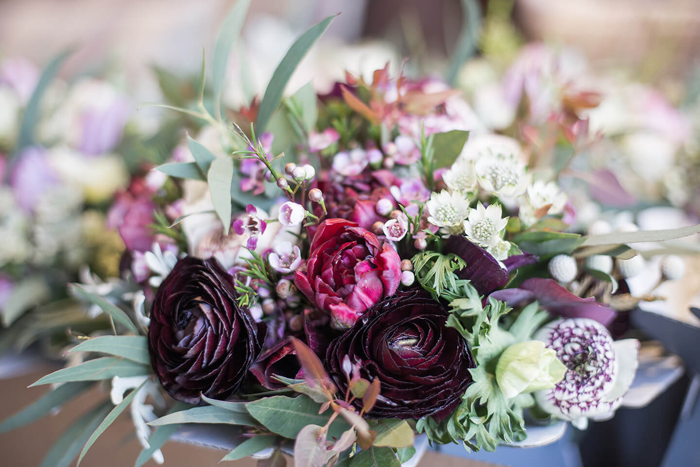 Choose seasonal wedding flowers in colours to match your autumn wedding theme