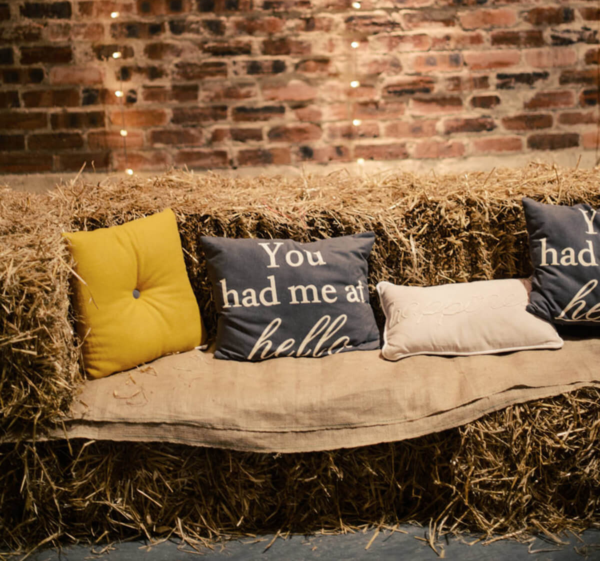 Give guests comfy wedding seating and blankets to keep them cosy at your autumn wedding