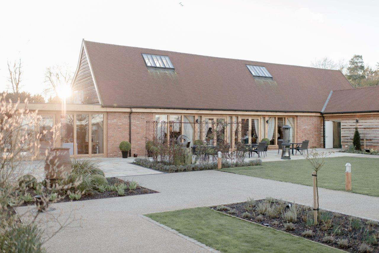 The couple celebrated their wedding day in the beautiful countryside wedding barn