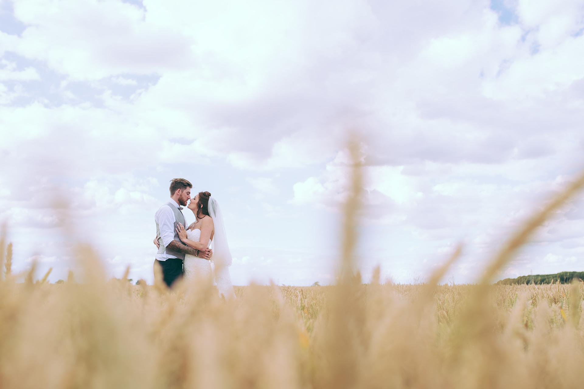 Emma and Steve' real life wedding at Bassmead Manor Barns
