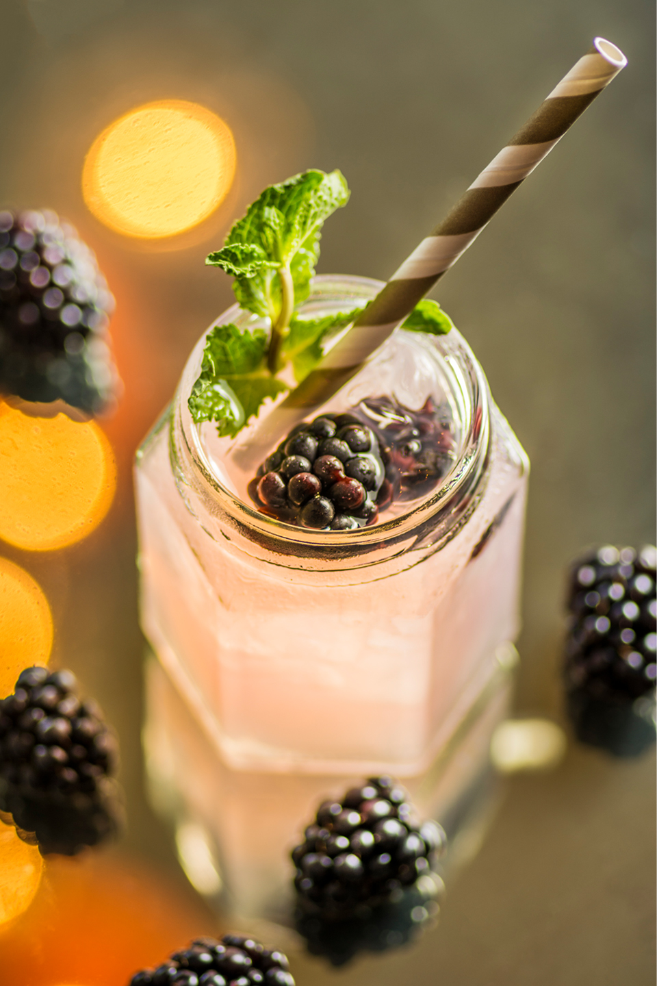 A fruit mocktail is a perfect non alcoholic refreshment for guests at Bassmead Manor Barns
