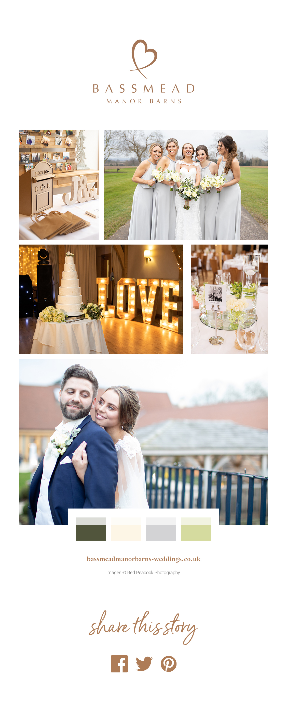 Jade and Jason's real life wedding at Bassmead Manor Barns