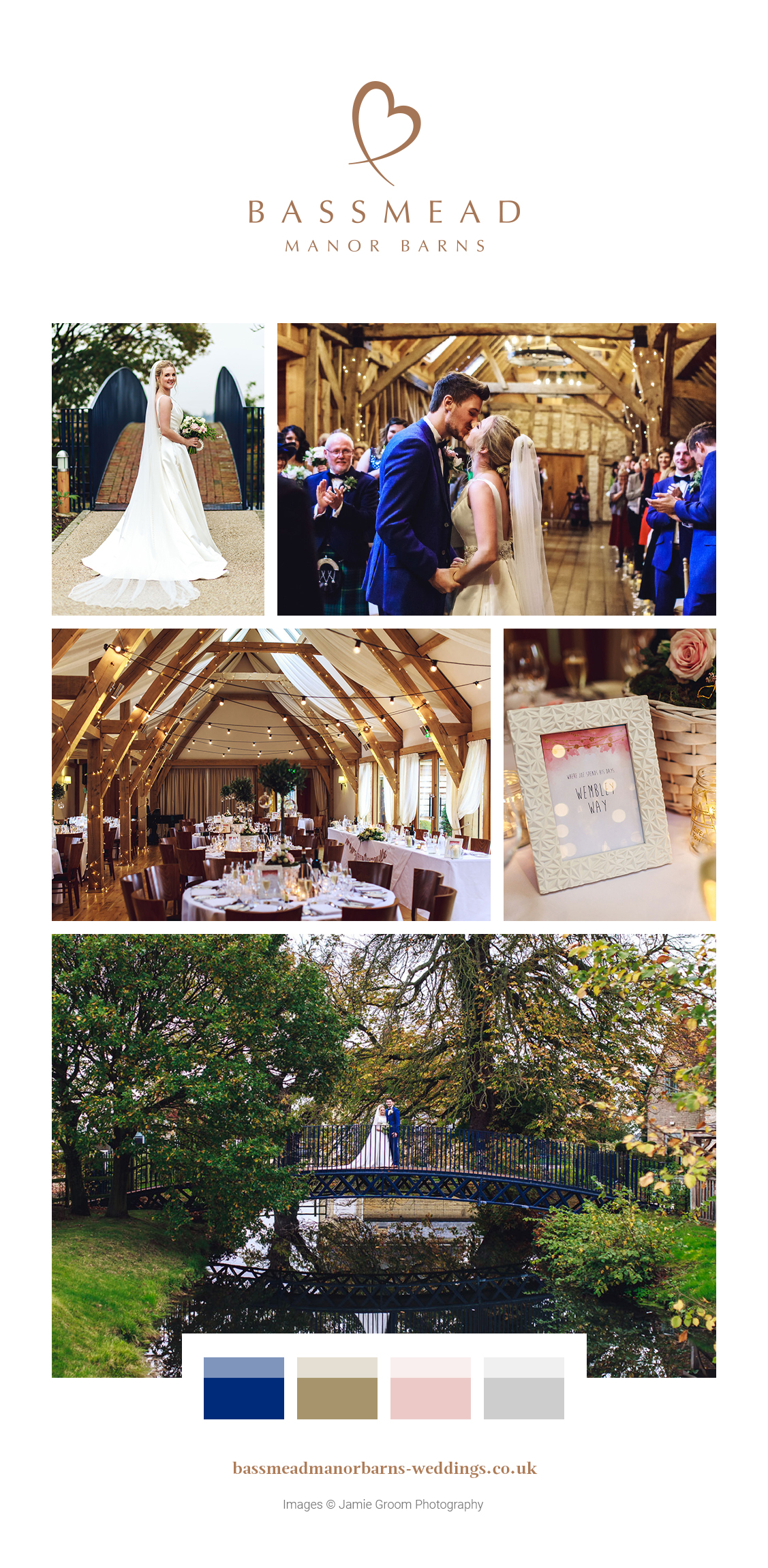 Save the style for Amy and Joe's wedding day at Bassmead Manor Barns