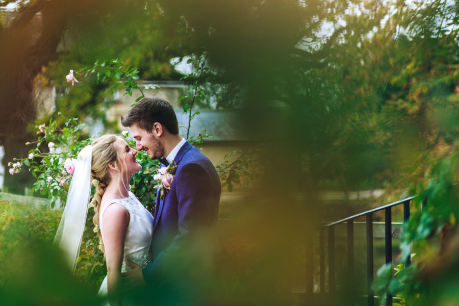 Amy and Joe celebrate their wedding day at Bassmead Manor Barns