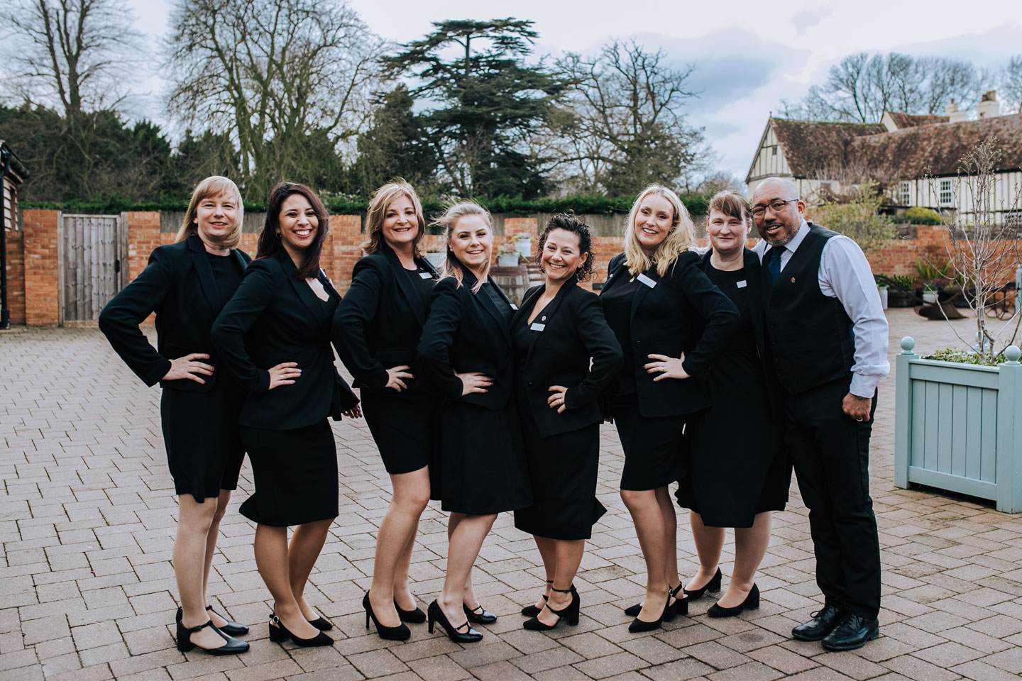 The fantastic wedding team at Bassmead Manor Barns
