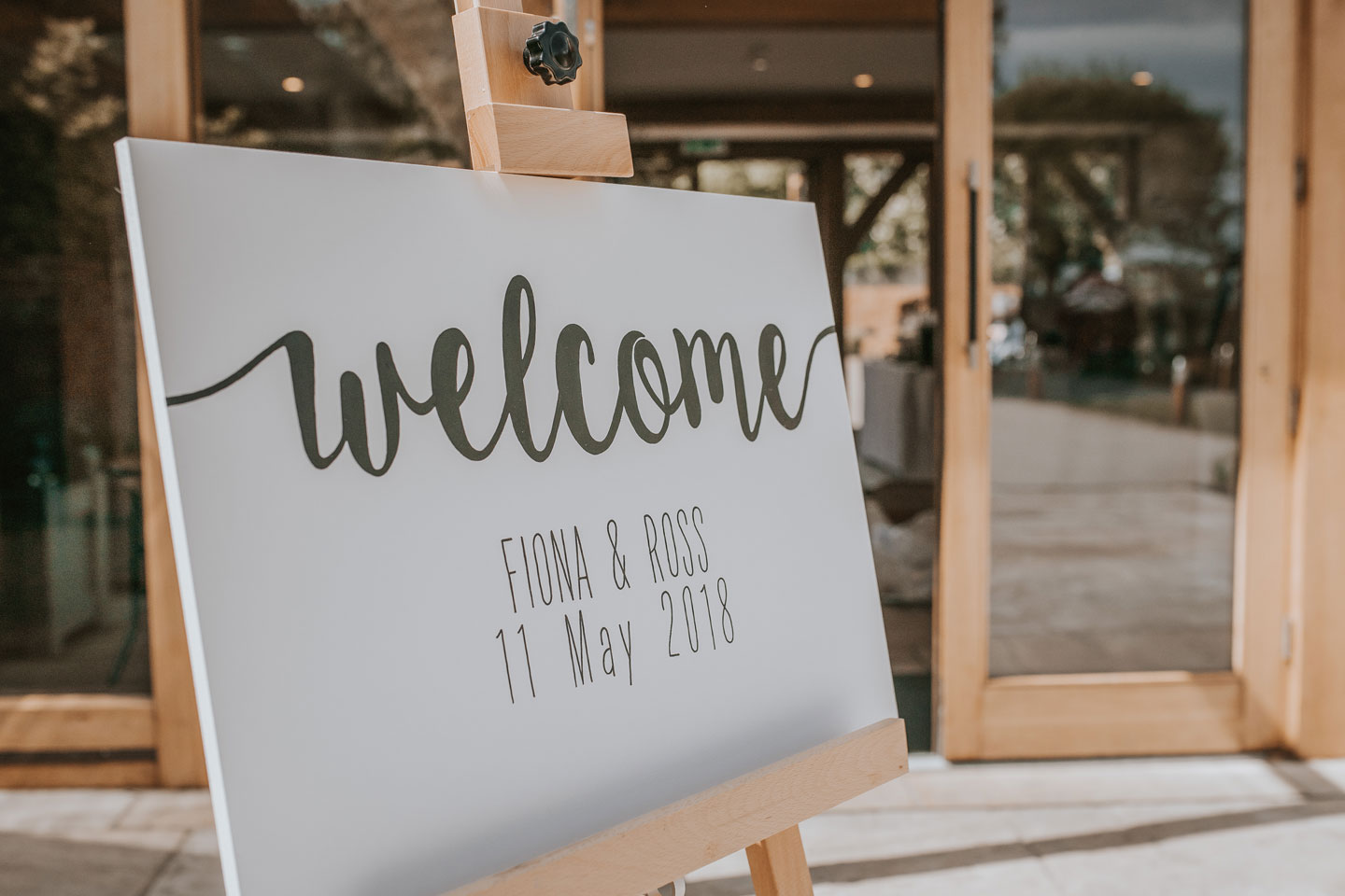 Display your memorable wedding date on a welcome sign