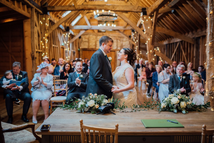 Rachel and Adam celebrate their special day at Bassmead Manor Barns