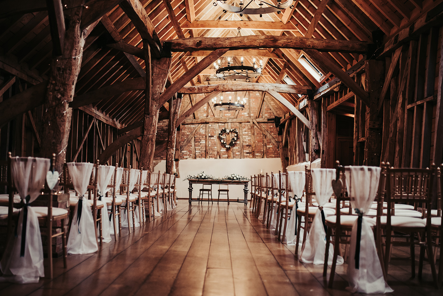The Rickety Barn is a beautifully rustic space for the couple's wedding ceremony