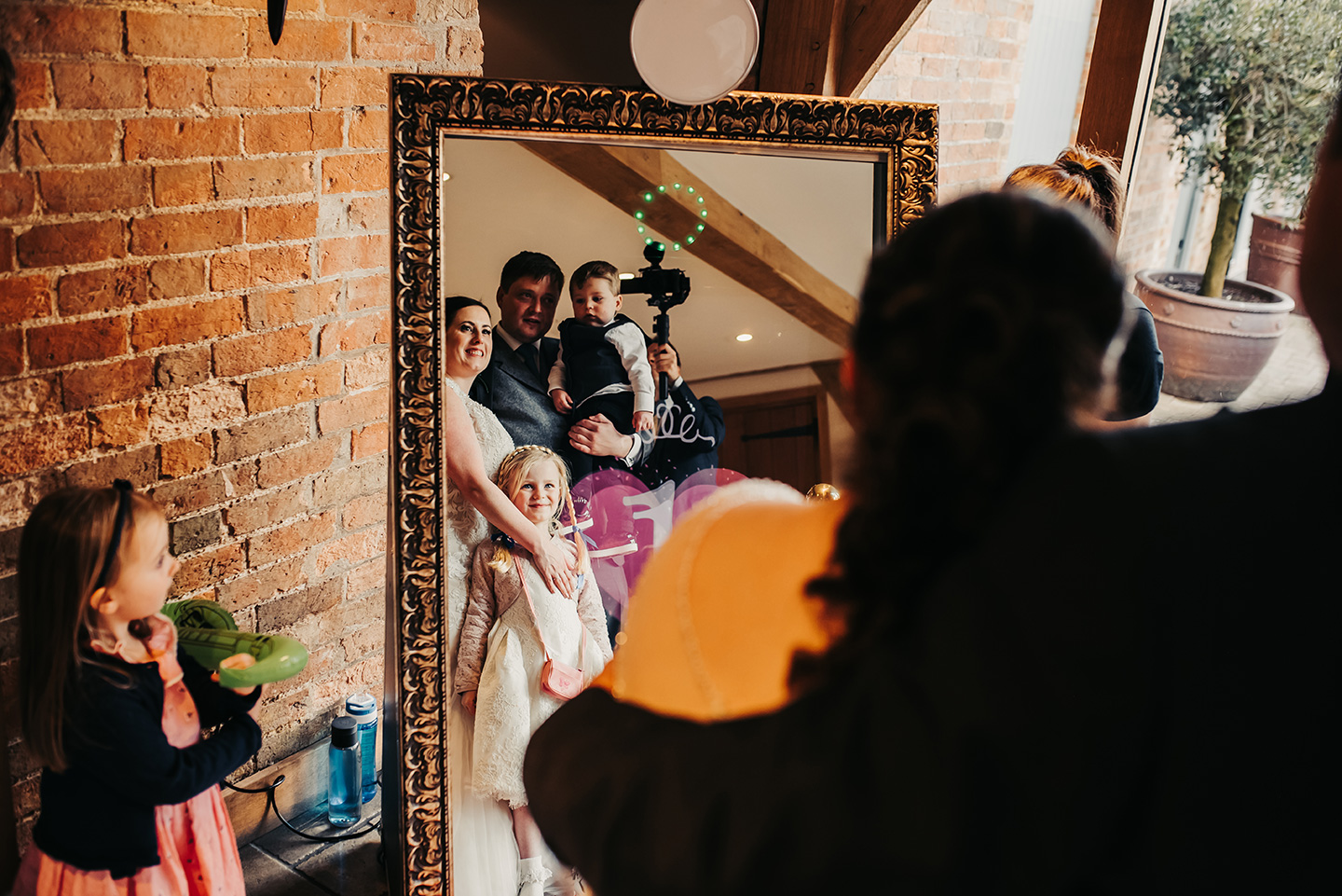 Wedding entertainment for guests included a Magic Mirror